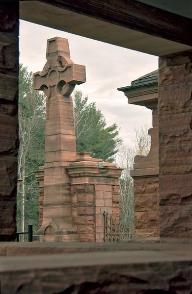 Bayside Cemetery's main gate on Clarkson Avenue