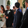 Jessica's father walks her down the aisle