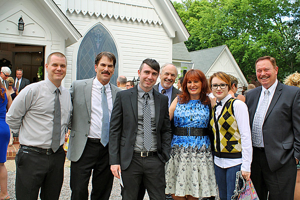 Group shot in front of the church