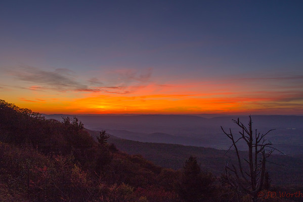 Shenandoah National Park Western Overlook Sunset Late - L10