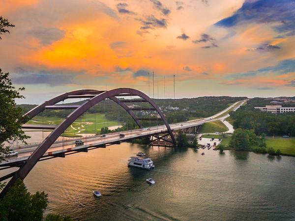 The Pennybacker Bridge in Austin, TX