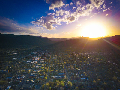 Sunset over Boulder, Colorado