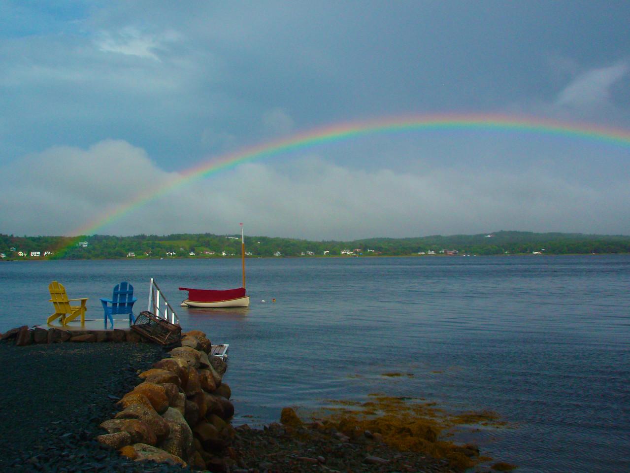 Rainbow at Wharf
