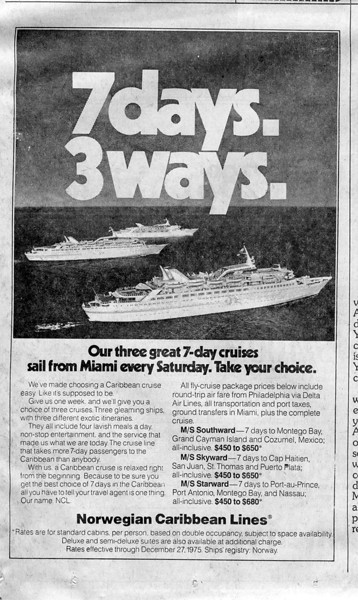 11/9/75 ads in the Philly Inquirer.