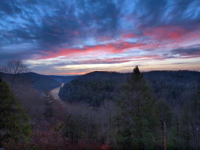 Sunrise Over The Cumberland River - 2