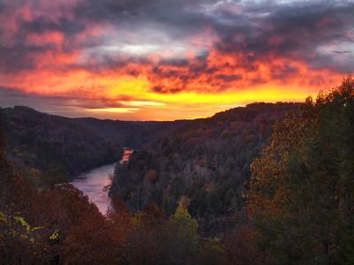 Sunrise Over The Cumberland River - 3