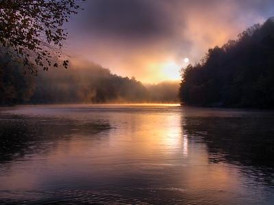 Sunrise Over The Cumberland River - 4