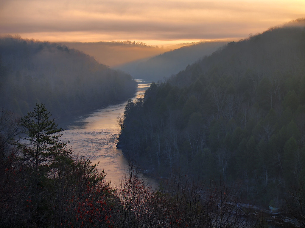 Sunrise Over The Cumberland River - 1