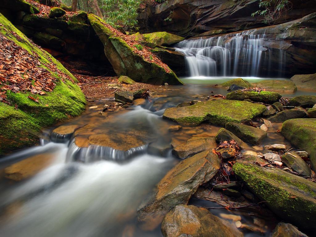 Lower Waterfall on Big Bloody Creek - 1