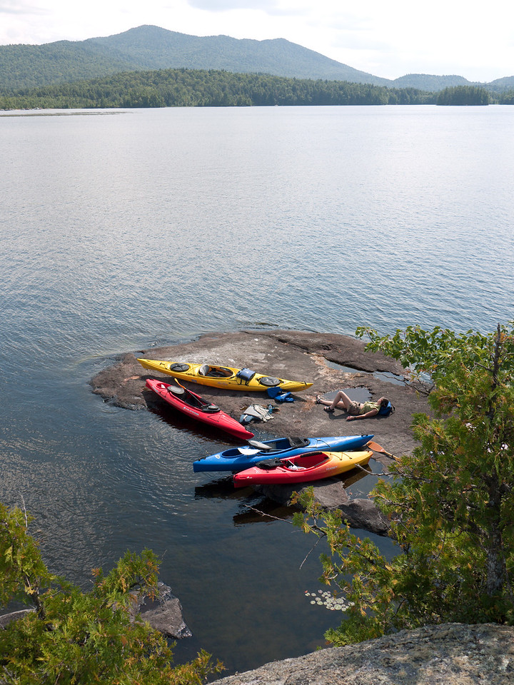 Kayaks at Middle Saranac