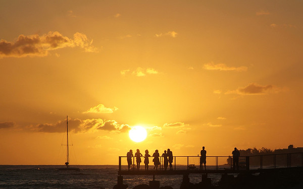 Sunset in Barbados photographed by Barbados Photography
