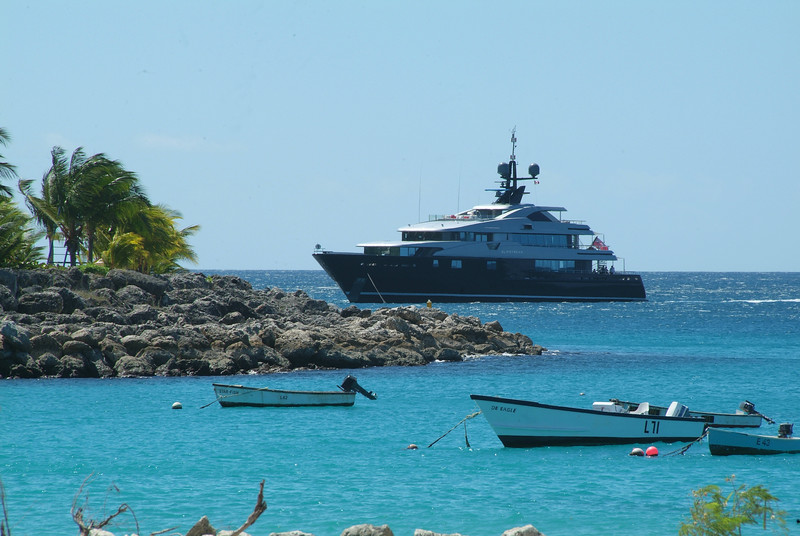 Super Yacht in Barbados photographed by Barbados Photography