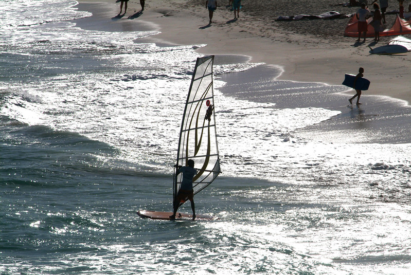 Windsurfing in Barbados
