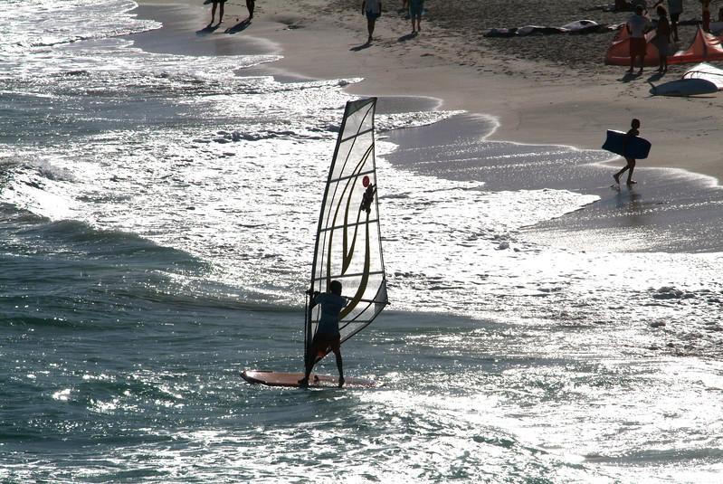Windsurfing in Barbados