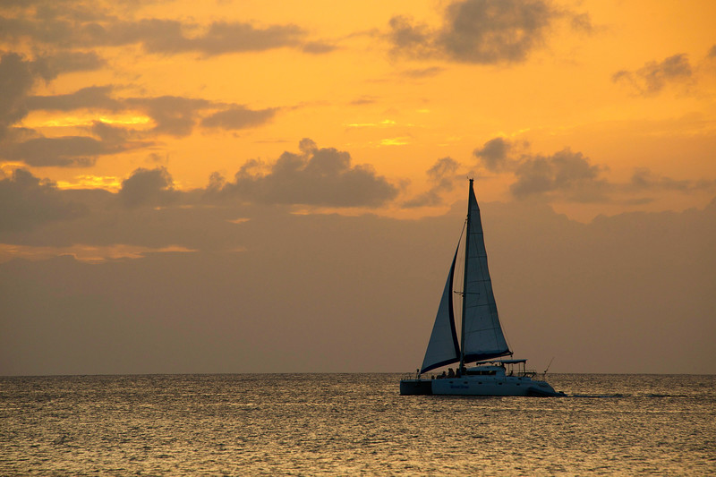 Yacht sailing on the West coast of Barbados photographed by Barbados Photography