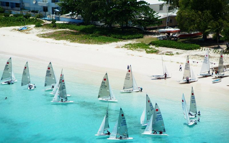 Yachts sailing in Barbados photographed by Barbados Photography
