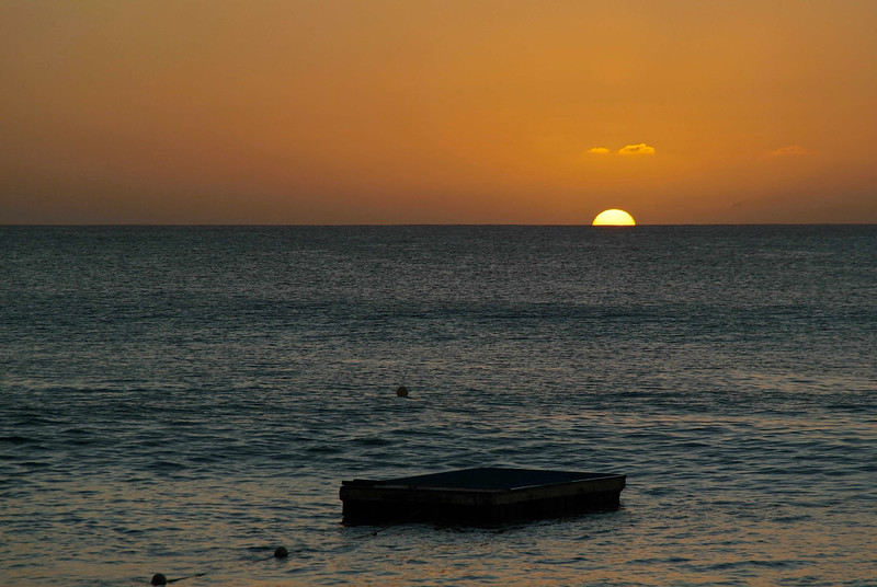 Sunset on the West coast of Barbados photographed by Barbados Photography
