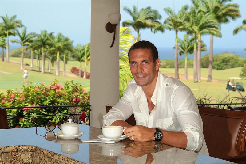 Rio Ferdinand in barbados