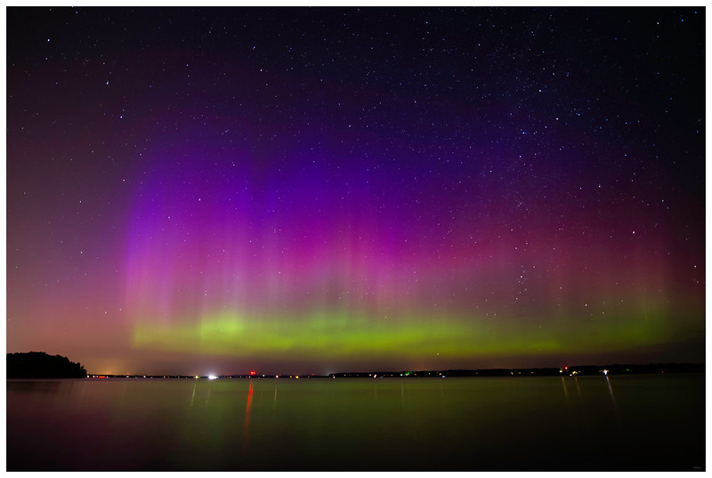 Northern Lights on Lake Wissota_081515_4874