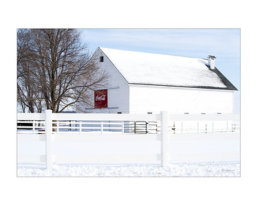Coca Cola White Barn
