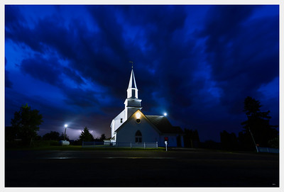 Wilson Lutheran Church and Storm Clouds