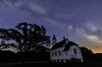 Bruce Valley Church Under the Milky Way