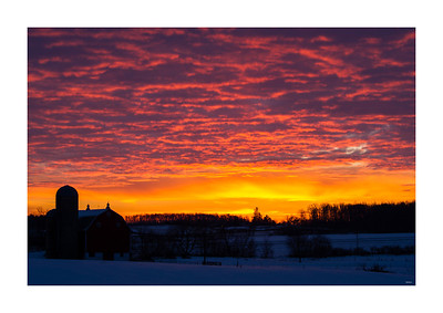 Barn and January Sunrise