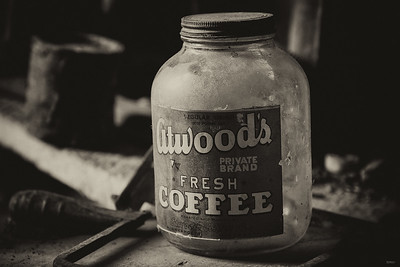 Atwood Coffee Black & White Image