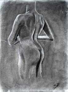 Study of the human form with shadows and light