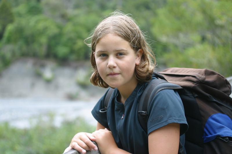 Dana Mar 2005, overnight camping Orongorongo River.