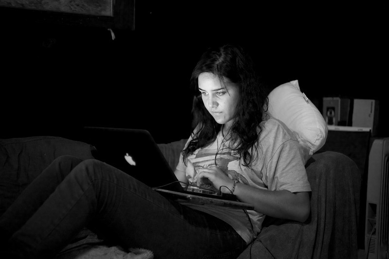 Laptop and Facebook Aug 2011 or... Typical Teenager<br /> <br /> Dana doing the same as millions of teenagers all around the world would have been doing at precisely same time.