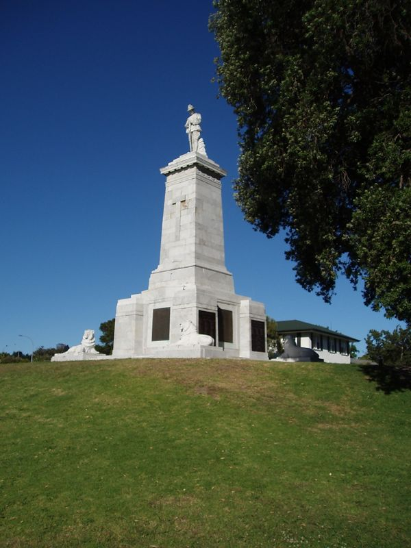 The Statue with the four lions we used to play on as kids in Gisborne.
