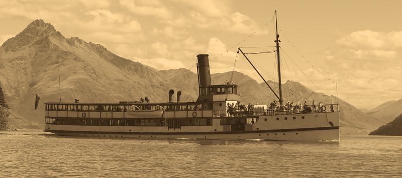 TSS Earnslaw Lake Wakatipu, Queenstown, New Zealand