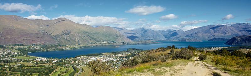 Overlooking Lake Wanaka from top of Mount Iron Feb 2011