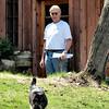 Richard & KeeKee at garage door