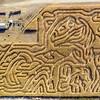 Trails lead through a corn maze in Idaho