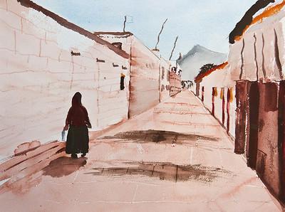 Lhasa Street, Tibet