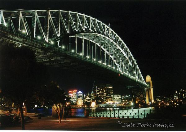 Sydney Harbor Bridge at night, Sydney, Australia.