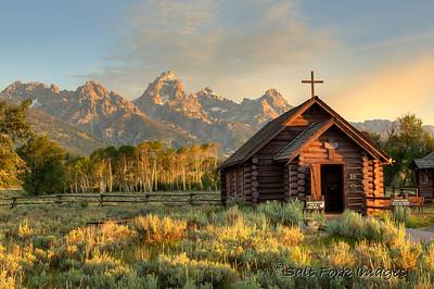 Chapel of the Transfiguration - Grand Teton National Park, Wyoming.  8/12/10