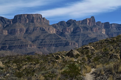 Sierra Del Carmen Mountains from the Marufo Vega Loop Trail - Big Bend National Park - Texas