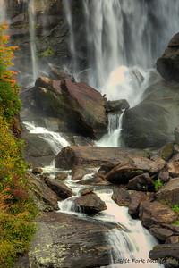 Middle detail of Whitewater Falls - Nantahala National Forest, North Carolina
