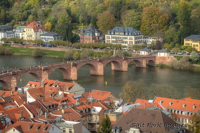 Old Bridge over the Neckar in Heidelberg, Germany