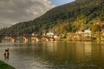 The Old Bridge over the Neckar River in Heidelberg, Germany