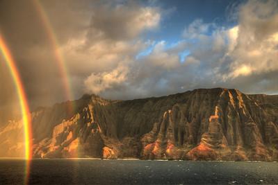 Late afternoon showers on the island of Kauai, Hawaii.