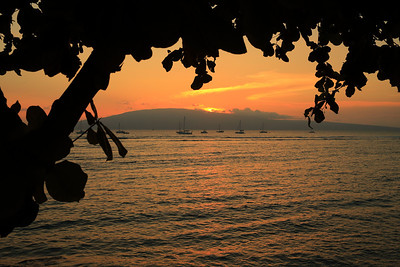 Sunset at Lahaina, Maui, Hawaii