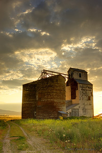 Grain elevator in Tetonia, Idaho.  July 2009