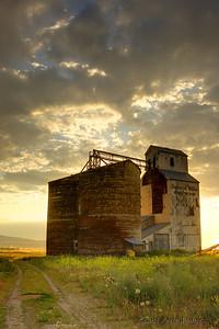Grain elevator in Tetonia, Idaho.  July 2009