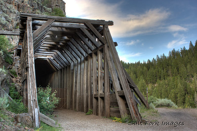 The old railroad tunnel near Bear Gulch close to Mesa Falls.  Idaho.