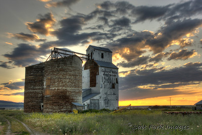 Grain Elevator in Tetonia, Idaho.  July 2009.