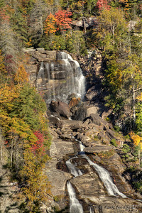 Whitewater Falls is 411 feet tall and is located in the Nantahala National Forest in Western North Carolina.  It's about 45 minutes from Clemson, South Carolina.